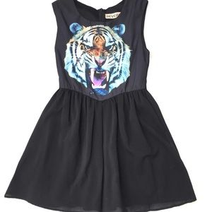 Reverse | UO Tiger Chiffon Skater Mini Dress